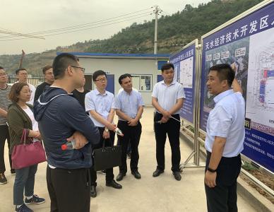 中国农业发展银行甘肃分行扶贫处调查组实地调查人民医院项目并参观众创大厦