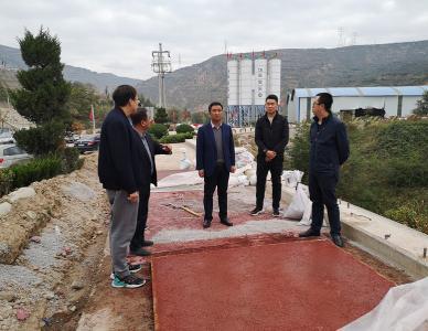 经济发展公司总经理张小龙检查项目建设情况